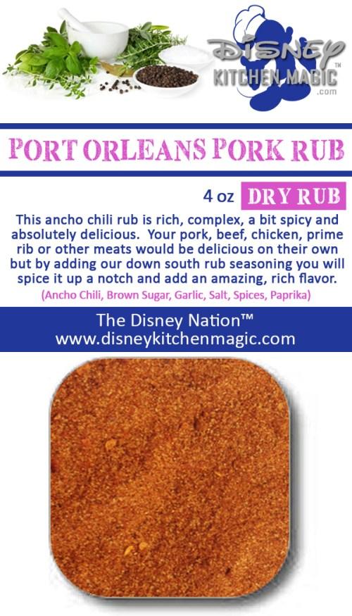 Port Orleans River Side French Quarter Pork Rub Ribs Chicken