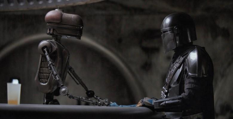 The mandalorian y un droid