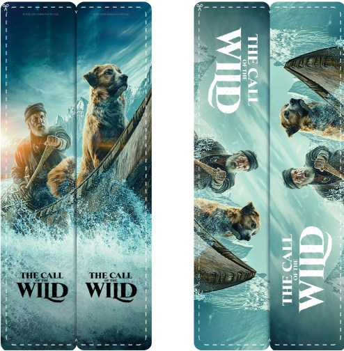 marcadores de libros con escenas de la película The Call of the Wild