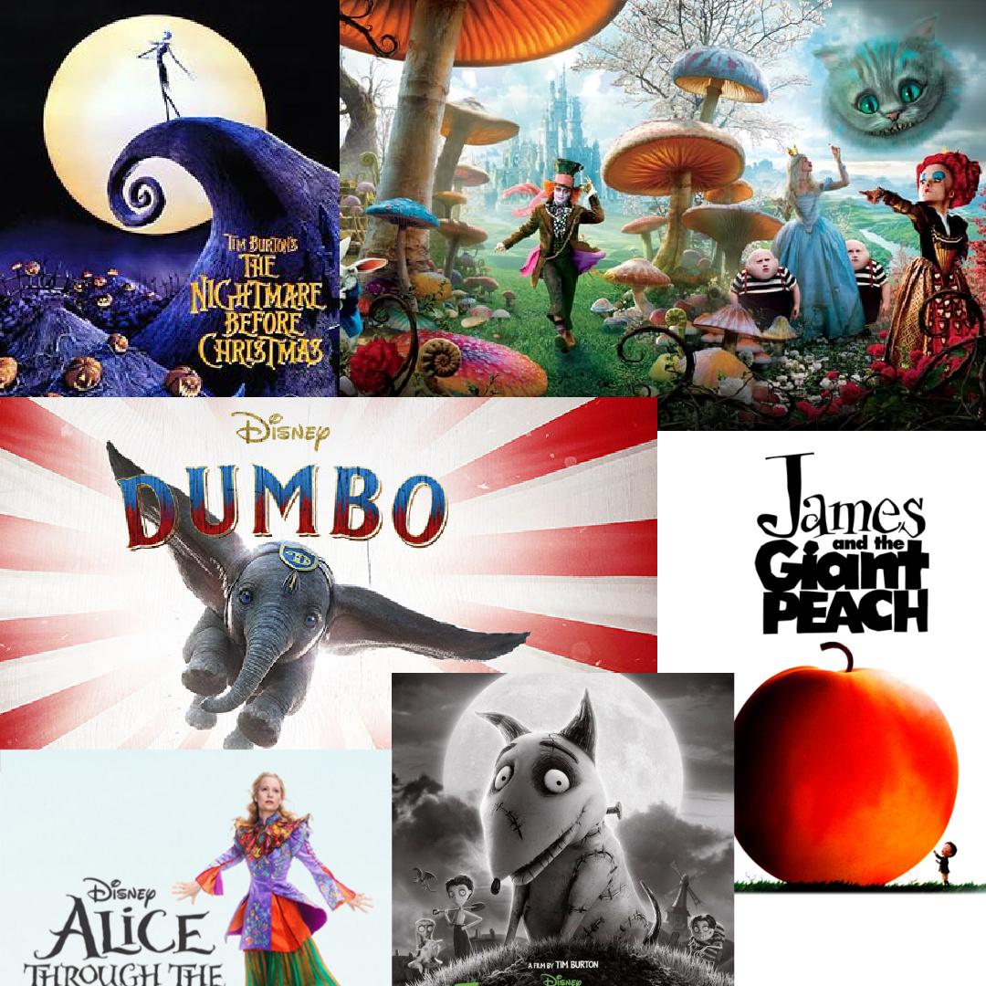 posters de películas de Disney de Tim Burton