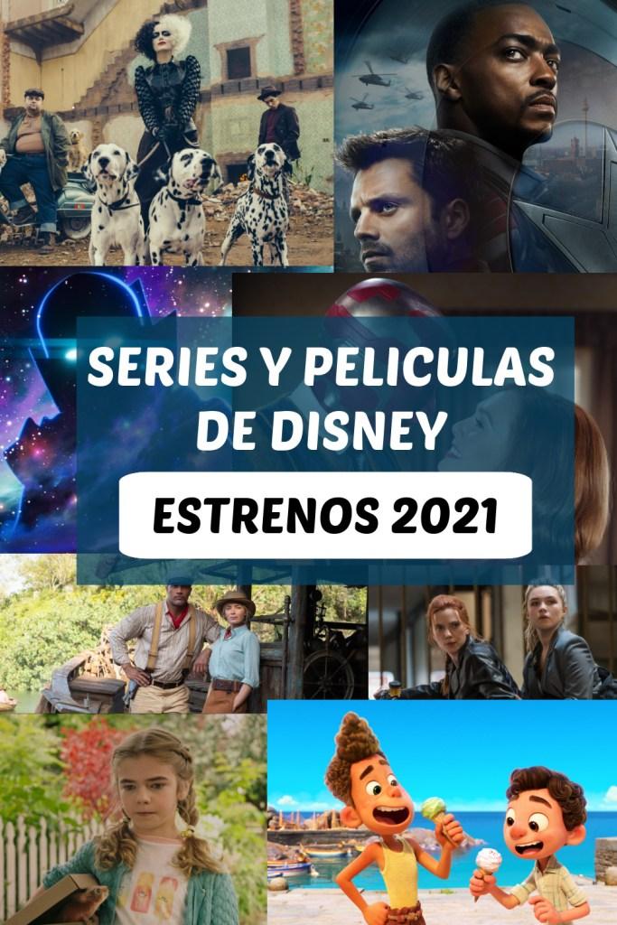 Estrenos de Disney 2021 collage