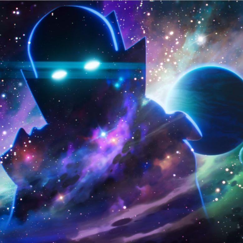 Foto de un extraterrestre en tonalidades moradas y verdes pastel, escena de la nueva serie Y si...? de Marvel