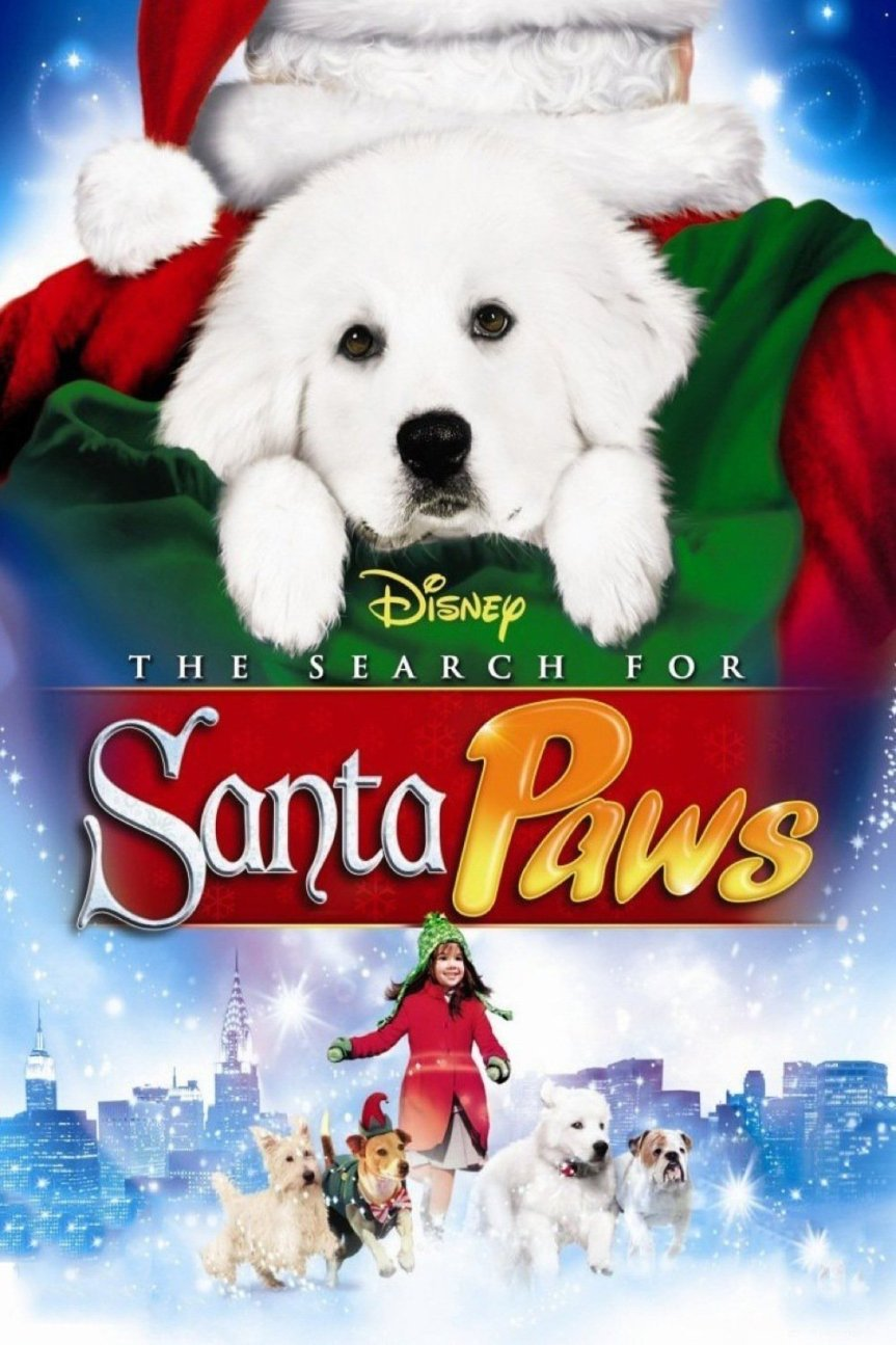 "Poster for the movie ""The Search for Santa Paws"""
