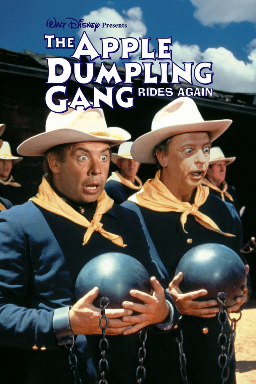 """Poster for the movie """"The Apple Dumpling Gang Rides Again"""""""