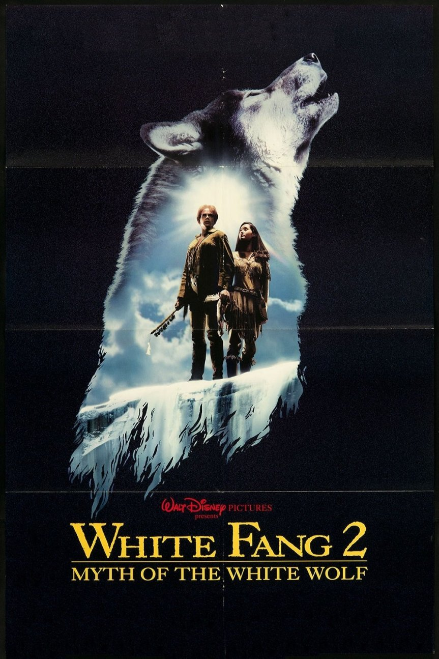 "Poster for the movie ""White Fang 2: Myth of the White Wolf"""