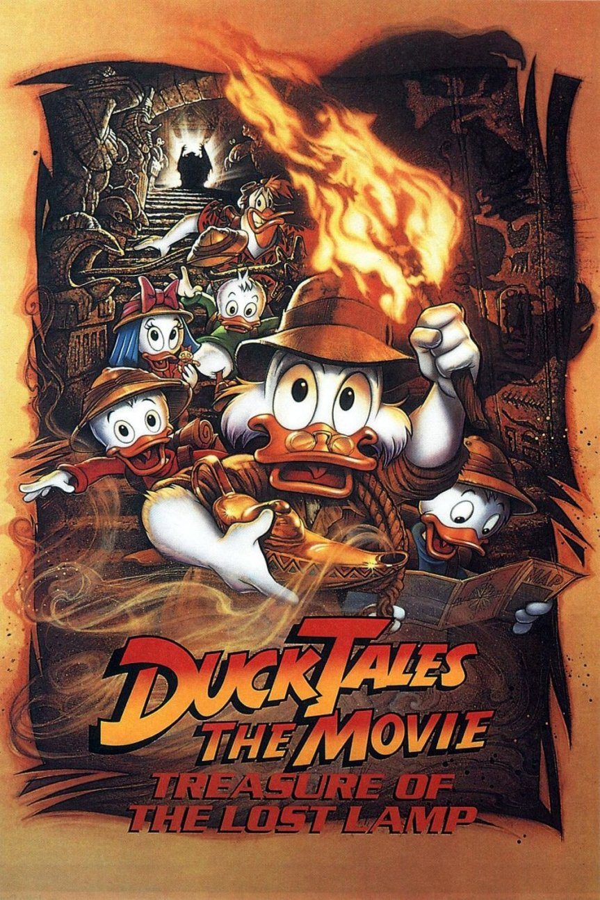 """Poster for the movie """"DuckTales: The Movie - Treasure of the Lost Lamp"""""""