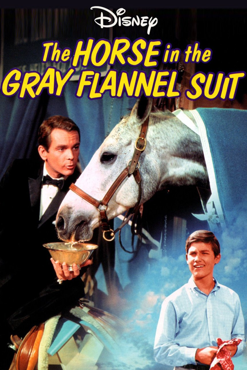 "Poster for the movie ""The Horse in the Gray Flannel Suit"""