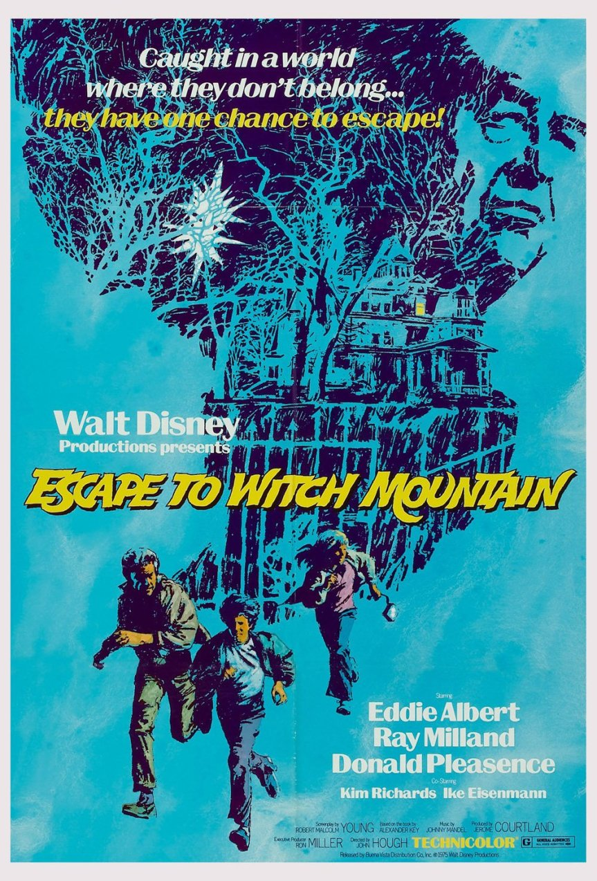 """Poster for the movie """"Escape to Witch Mountain"""""""