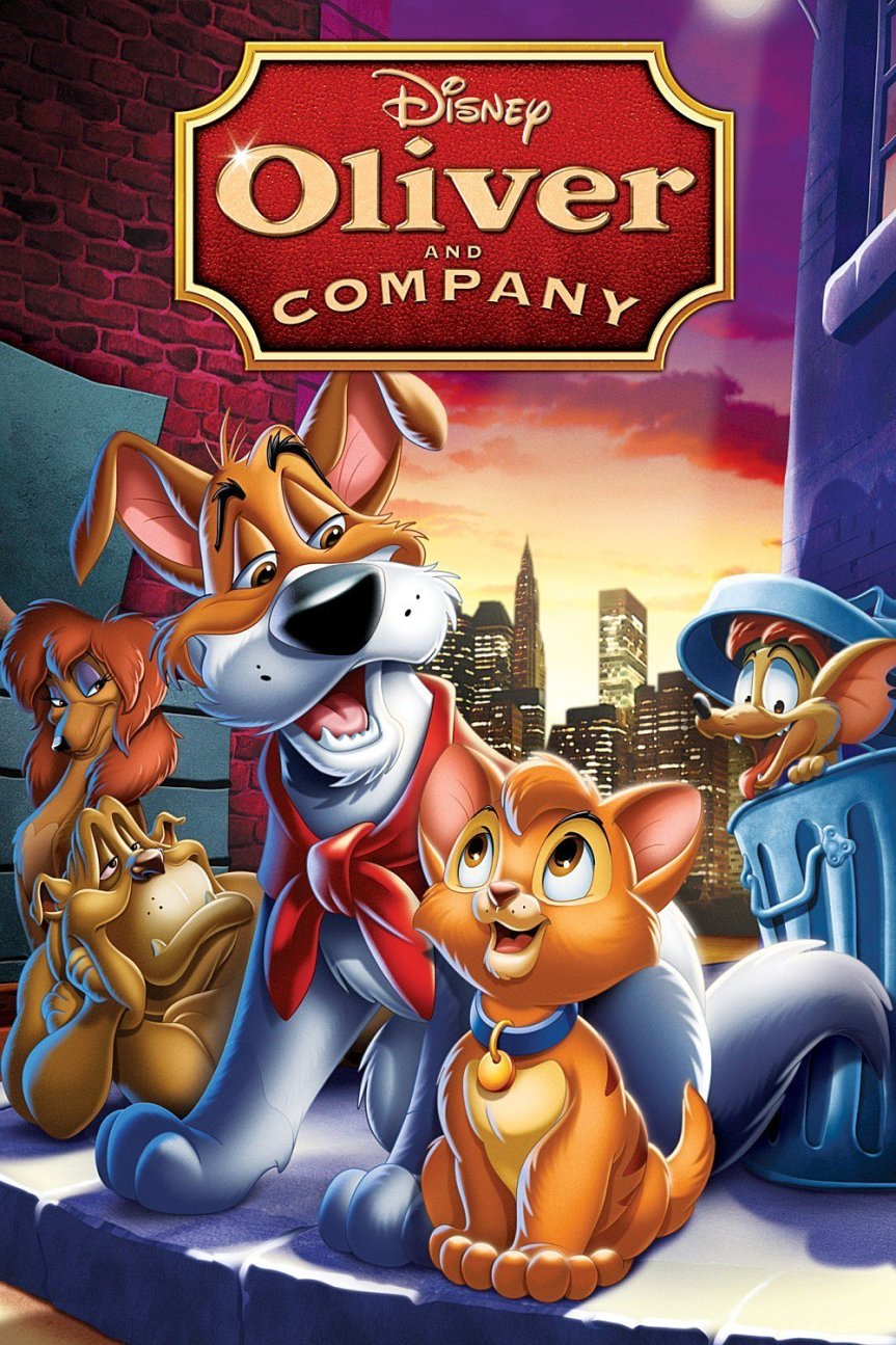 """Poster for the movie """"Oliver & Company"""""""