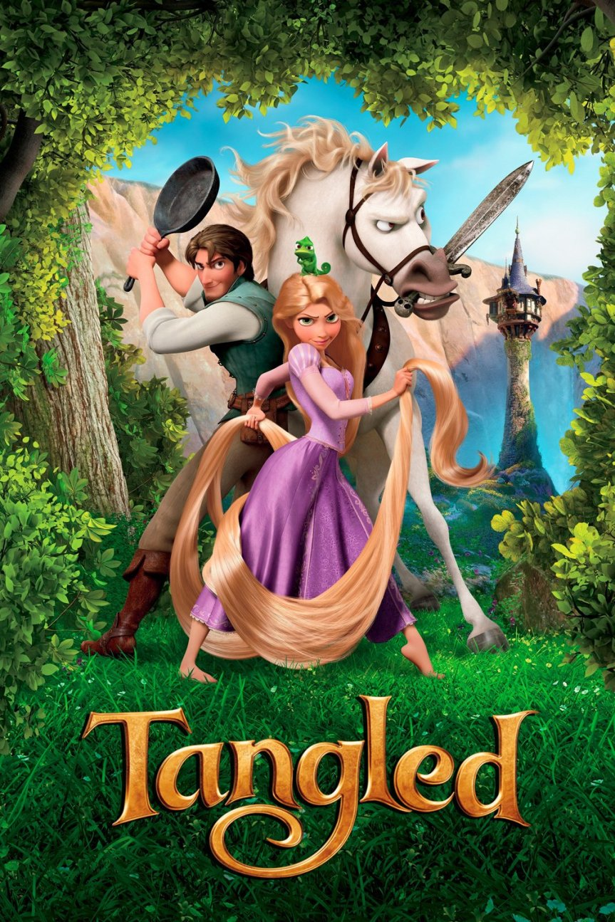 """Poster for the movie """"Tangled"""""""