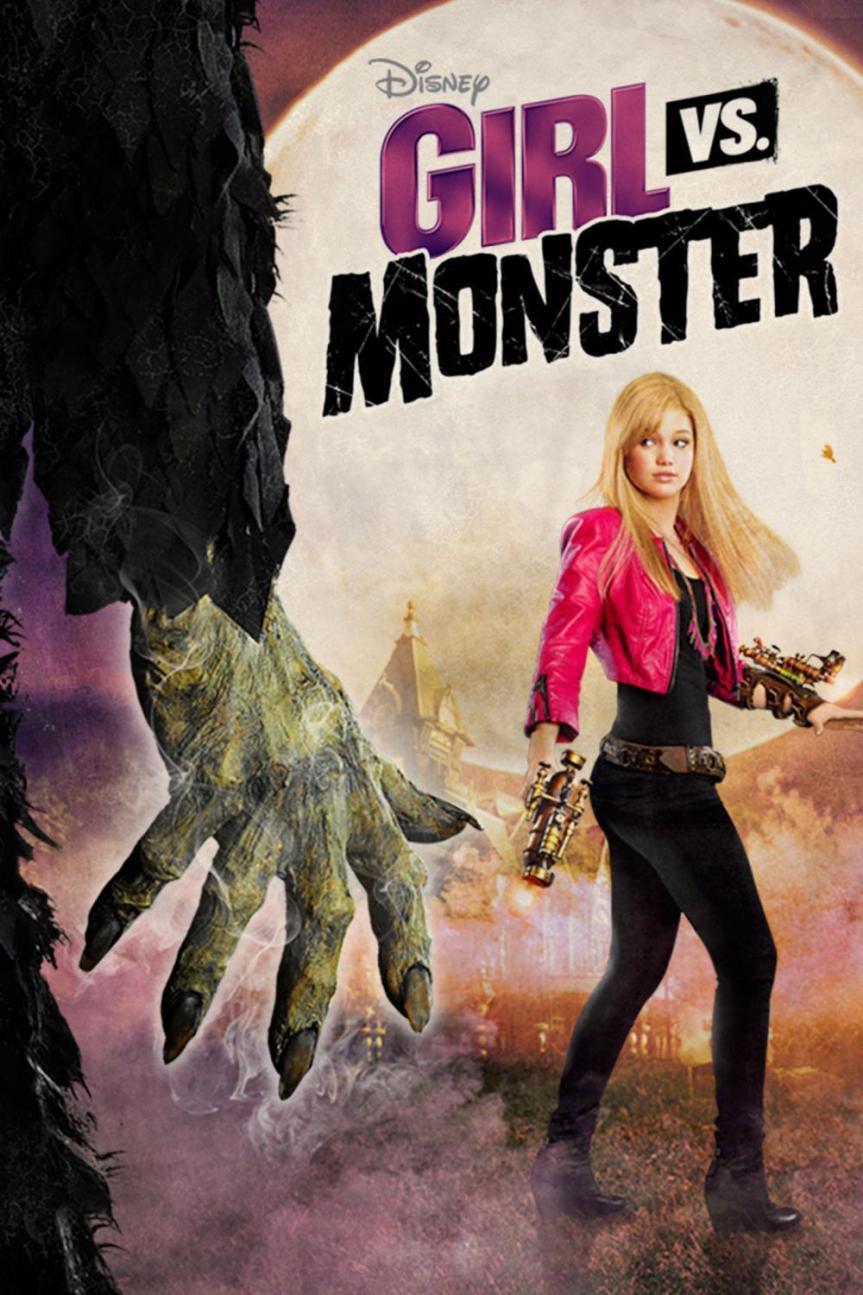 """Poster for the movie """"Girl vs. Monster"""""""