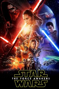"Poster for the movie ""Star Wars: The Force Awakens"""