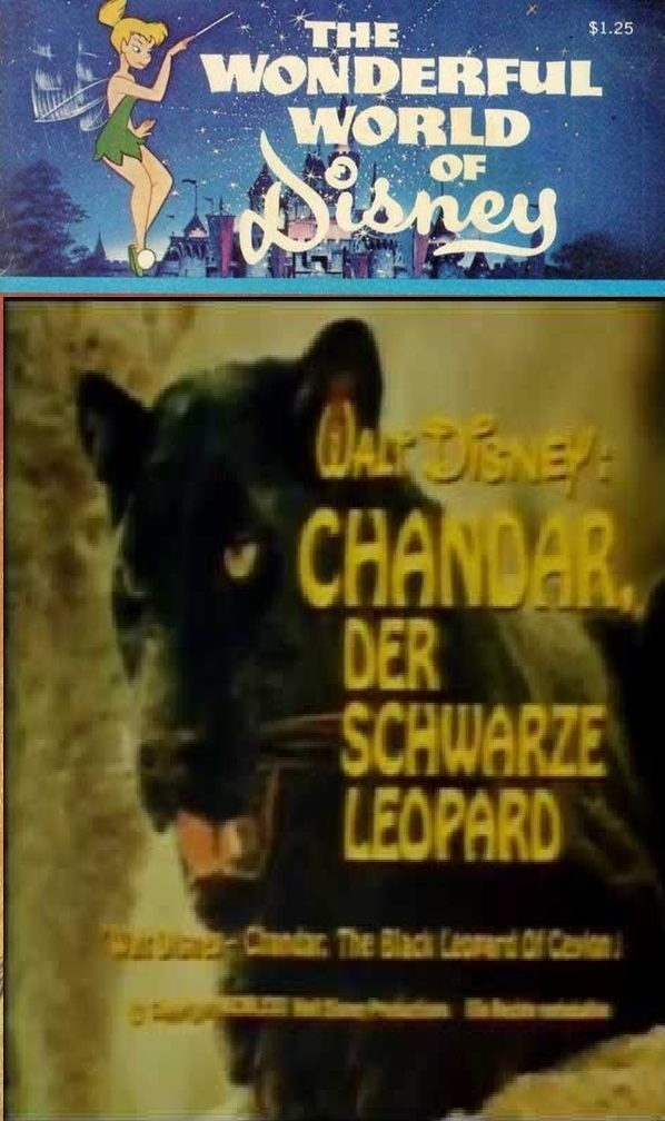 "Poster for the movie ""Chandar, the Black Leopard of Ceylon"""