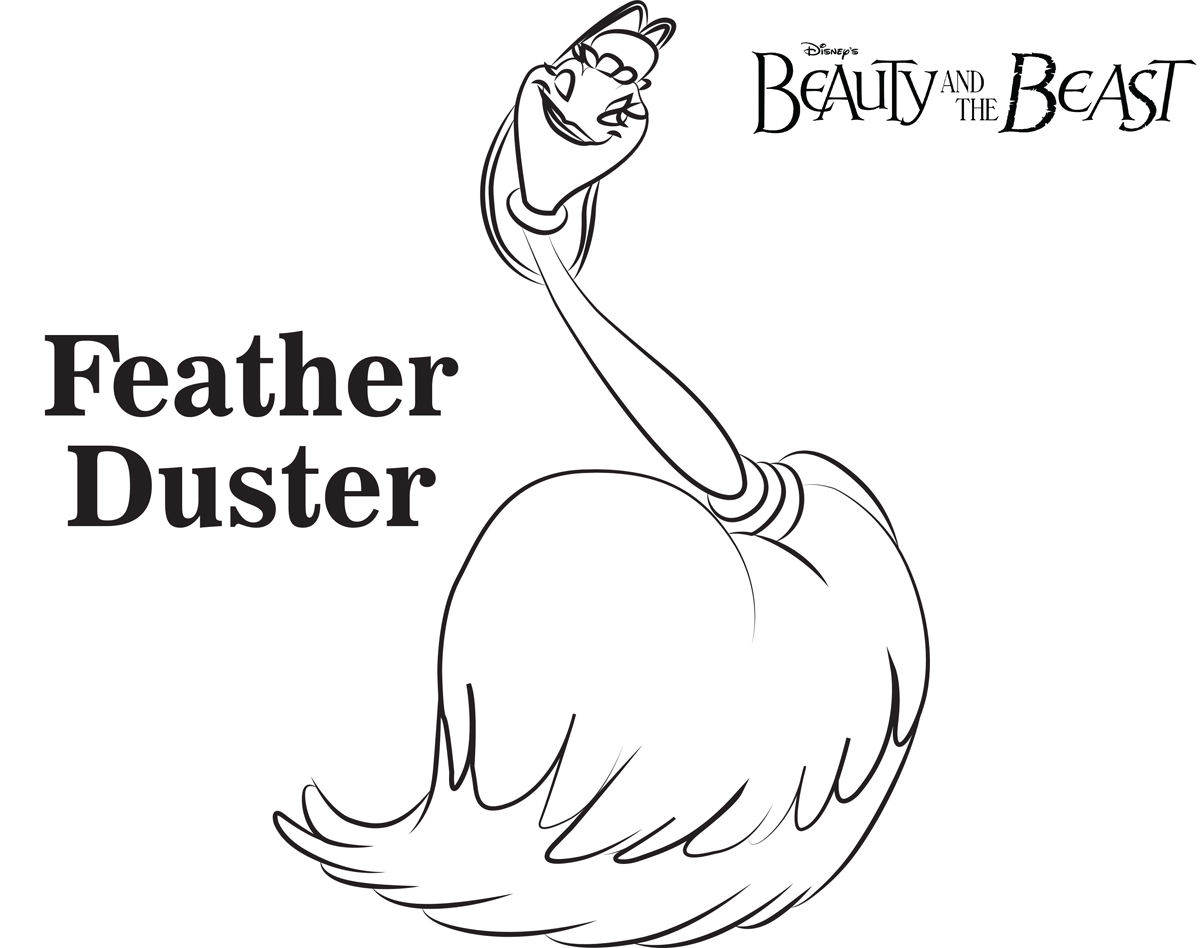 Feather Duster Beauty And The Beast Coloring Pages Disney Movies List
