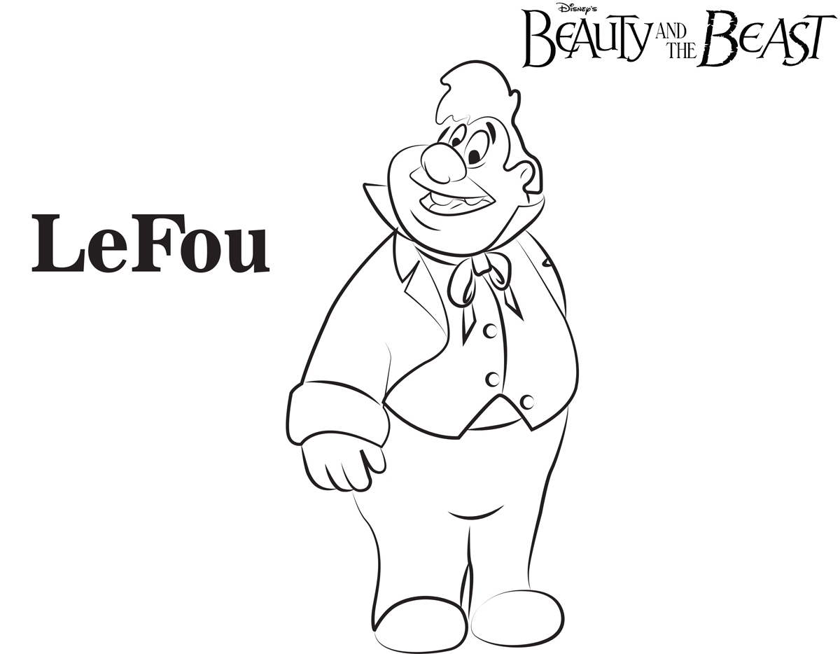 Lefou beauty and the beast coloring pages