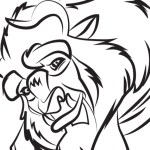 Beast – Beauty and the Beast Coloring Pages