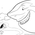 Bruce – Finding Nemo Coloring Pages