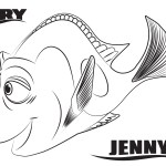 Jenny – Finding Dory Coloring Pages