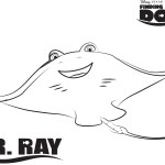 Mr. Ray – Finding Dory Coloring Pages