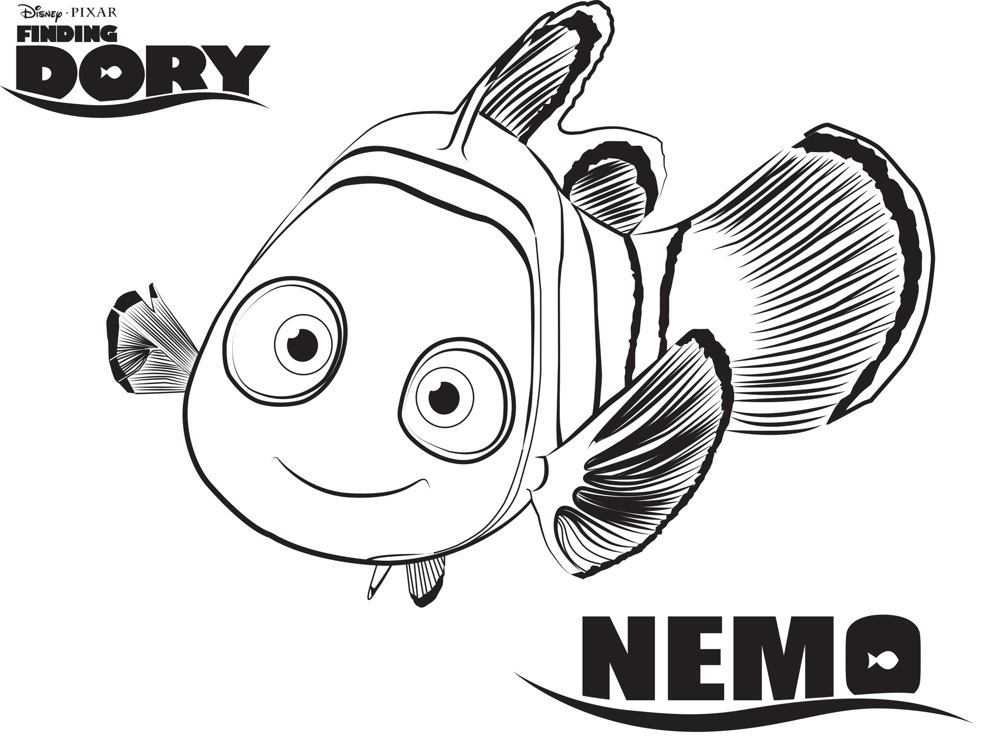 Nemo Finding Dory Coloring Pages Disney Movies List