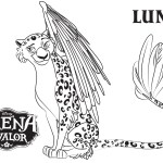 Luna- Elena of Avalor Coloring Pages