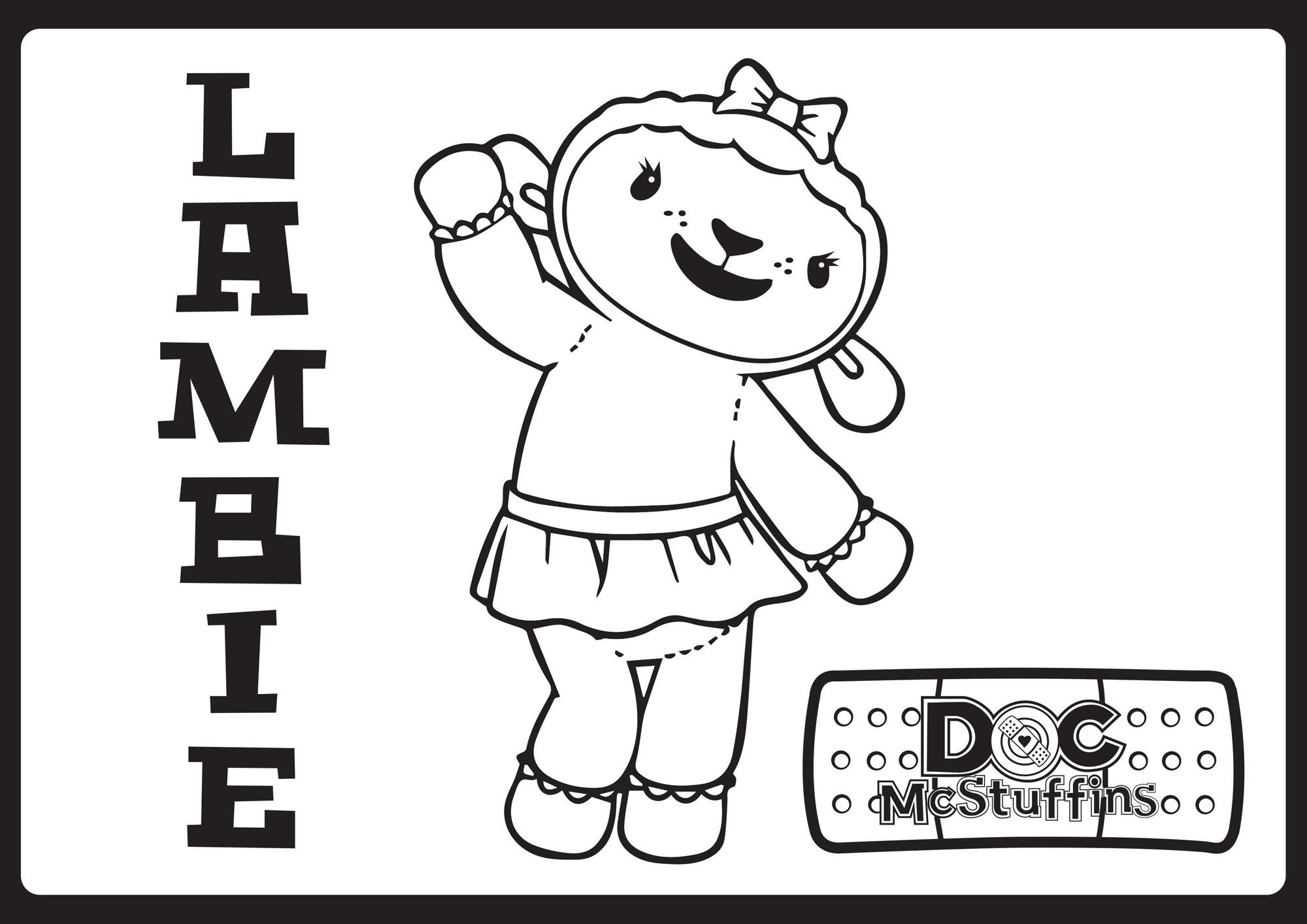Lambie - Doc McStuffins Coloring Pages - Disney Movies List
