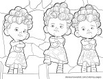 The Triplets - Brave Coloring Pages