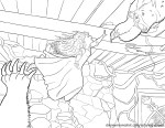 Merida and Elinor – Brave Coloring Pages