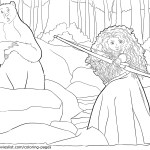 Merida and Elinor in the Forest – Brave Coloring Pages