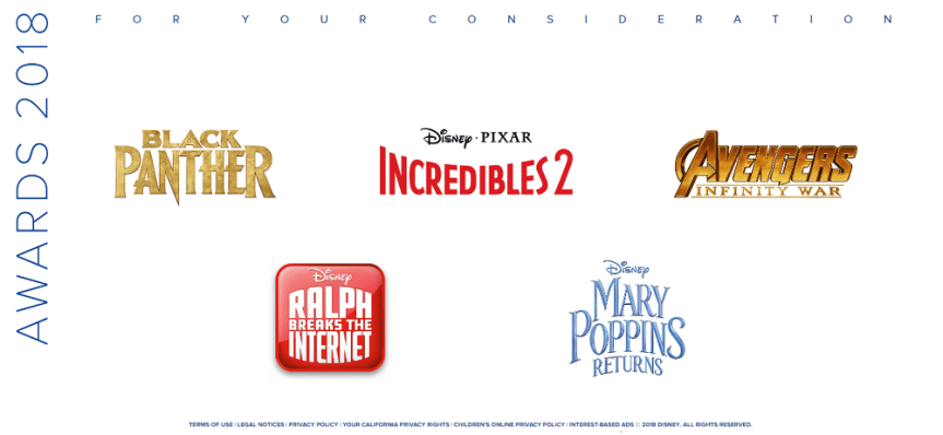 """""""For Your Consideration"""": List of Movies Disney is Pushing for Nomination in Upcoming Film Awards (Plus Number of Categories)"""