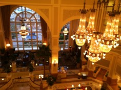 Looking down into the hotel from the hallway next to my room. Quite elegant.