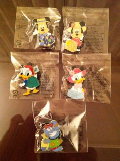 """Some of the """"consolation"""" prize pins from Abu's Bazaar"""