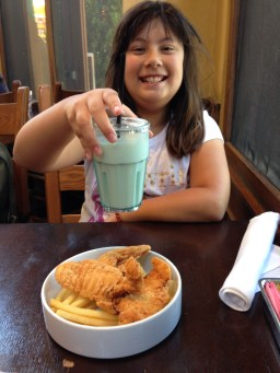 Chicken fingers and blue milk (just like in Star Wars)