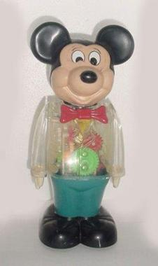 1978 Walking Mickey Mouse Windup See thru Figure