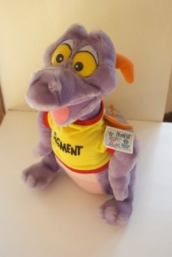 1982 Epcot Center's Figment Purple Dragon Stuffed Animal