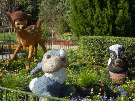 Bambi, Thumper and Flower Topiary Epcot