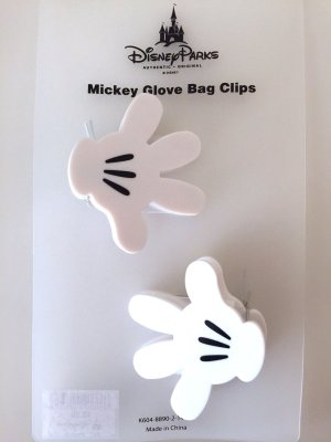 Disney Parks Mickey Mouse Hand Glove Bag Clips