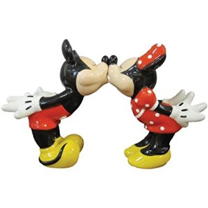 Westland Giftware Mickey InspEARations Kissing Mickey and Minnie Magnetic Salt and Pepper Shakers