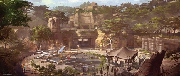 disney star wars land concept art