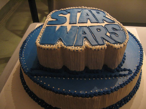 star wars birthday cake photo