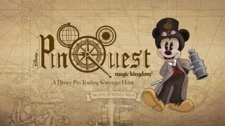 Disney World Magic Kingdom Pinquest scavenger hunt game