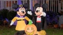 disney halloween decorations 4.5' Tall Mickey and Minnie Pumpkin Halloween Airblown Inflatables