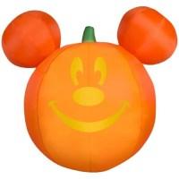 Disney Halloween Mickey Mouse Pumpkin Jack-O-Lantern Inflatable