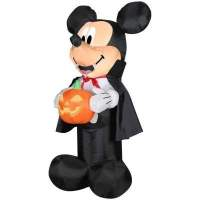 Halloween Mickey Mouse and Pumpkin 3.5' Tall Lawn Yard Inflatable