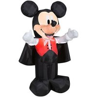 Halloween Airblown Disney Vampire Mickey Mouse 3.5' Tall Yard Inflatable