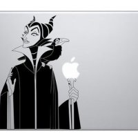 Maleficent Witch Macbook Vinyl Sticker Laptop Skin