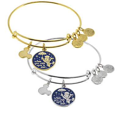 Jiminy Cricket ''When You Wish Upon a Star . . .'' Bangle by Alex and Ani (blue)
