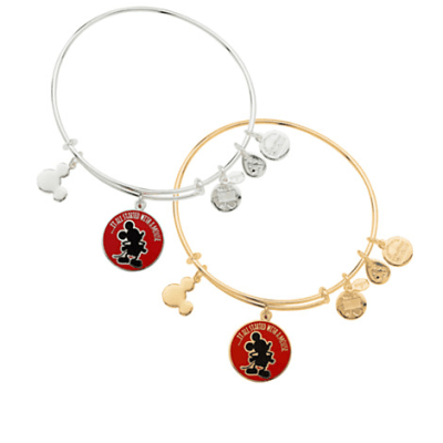 Mickey Mouse ''It all started with a mouse'' Bangle by Alex and Ani (red)