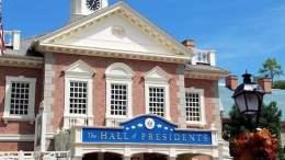 magic kingdom hall of presidents trump closed