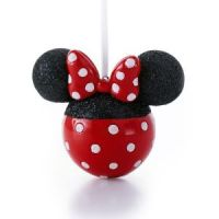 Minnie Mouse Glitter Ears Christmas Ornament